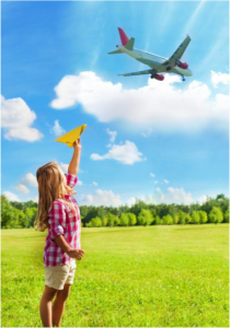 Girl with plane